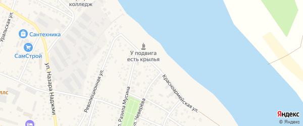 Красноармейская улица на карте Дюртюлей с номерами домов