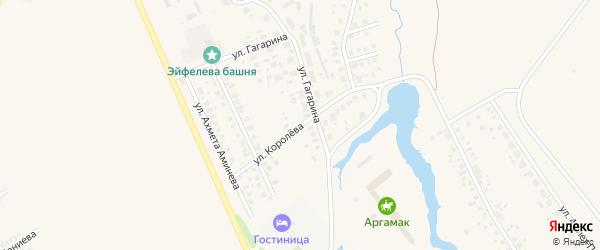 Улица Королева на карте Дюртюлей с номерами домов