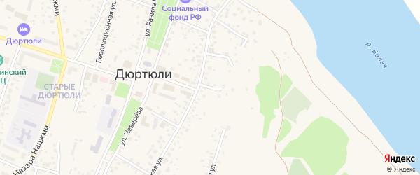 Ключевой переулок на карте Дюртюлей с номерами домов