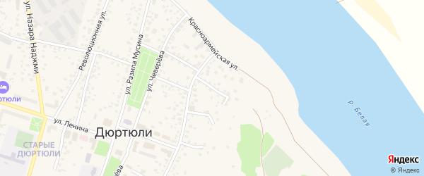 Гончарный переулок на карте Дюртюлей с номерами домов