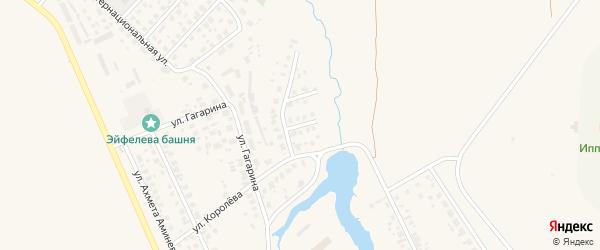 Улица Пожарского на карте Дюртюлей с номерами домов