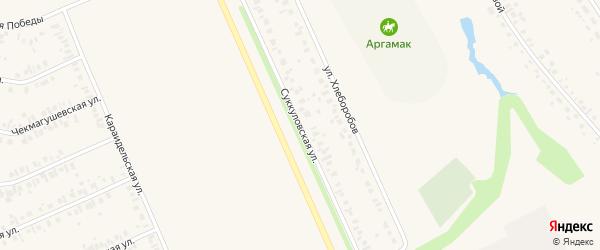 Суккуловская улица на карте Дюртюлей с номерами домов