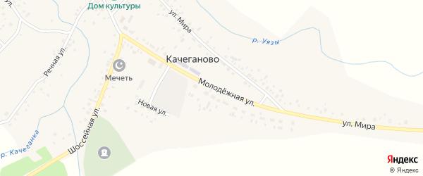 Молодежная улица на карте села Качеганово с номерами домов