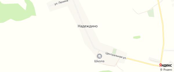 Карта села Надеждино в Башкортостане с улицами и номерами домов