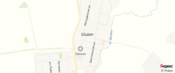Карта села Шудека в Башкортостане с улицами и номерами домов