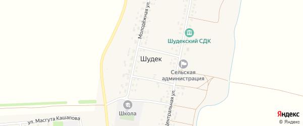 Улица Победы на карте села Шудека с номерами домов
