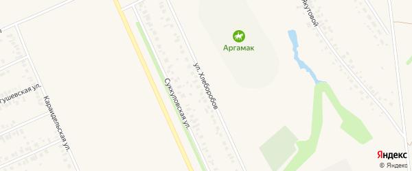 Улица Хлеборобов на карте Дюртюлей с номерами домов