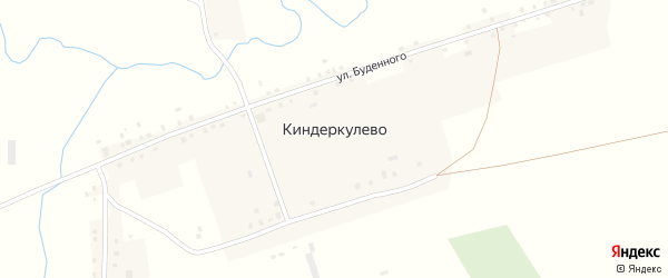Полевая улица на карте деревни Киндеркулево с номерами домов