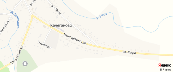 Улица Мира на карте села Качеганово с номерами домов
