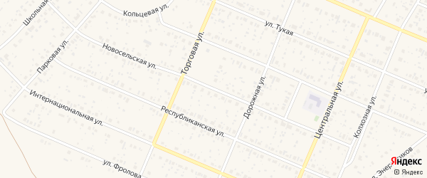 Новосельская улица на карте села Раевского с номерами домов
