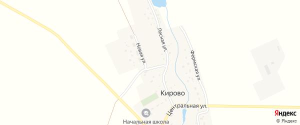 Новая улица на карте села Кирово с номерами домов