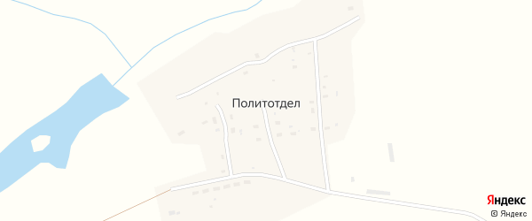 Школьная улица на карте села Политотдела с номерами домов