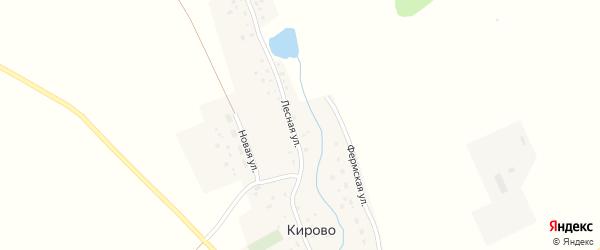Лесная улица на карте села Кирово с номерами домов