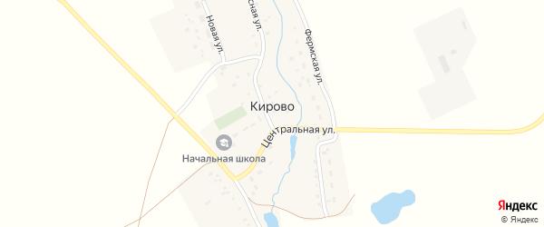Центральная улица на карте села Кирово с номерами домов