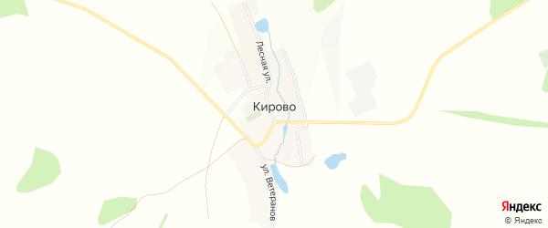 Карта села Кирово в Башкортостане с улицами и номерами домов