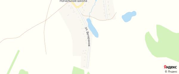 Улица Ветеранов на карте села Кирово с номерами домов