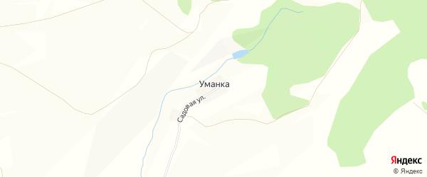 Карта деревни Уманки в Башкортостане с улицами и номерами домов