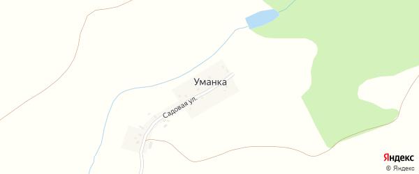 Садовая улица на карте деревни Уманки с номерами домов