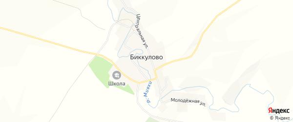 Карта села Биккулово в Башкортостане с улицами и номерами домов