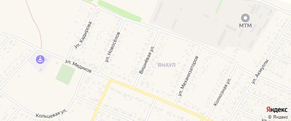 Вишневая улица на карте села Раевского с номерами домов