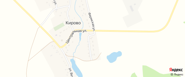Фермская улица на карте села Кирово с номерами домов
