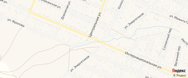 Интернациональная улица на карте села Раевского с номерами домов