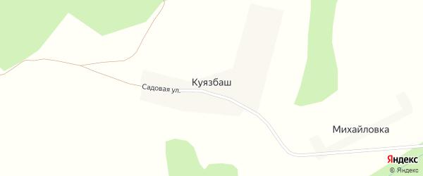 Мирная улица на карте деревни Куязбаш с номерами домов