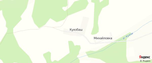 Карта деревни Куязбаш в Башкортостане с улицами и номерами домов