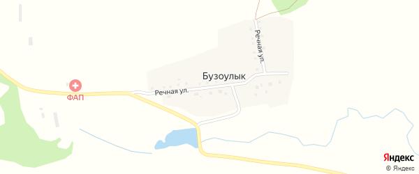 Речная улица на карте деревни Бузоулыка с номерами домов