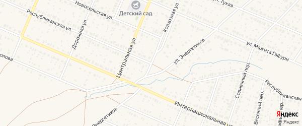Республиканская улица на карте села Раевского с номерами домов