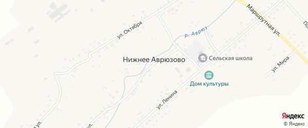 Полевая улица на карте села Нижнее Аврюзово с номерами домов
