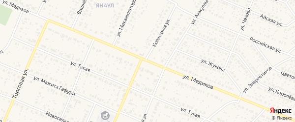 Улица Медиков на карте села Раевского с номерами домов