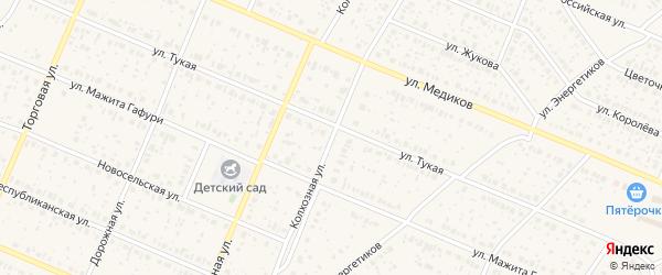 Колхозная улица на карте села Раевского с номерами домов