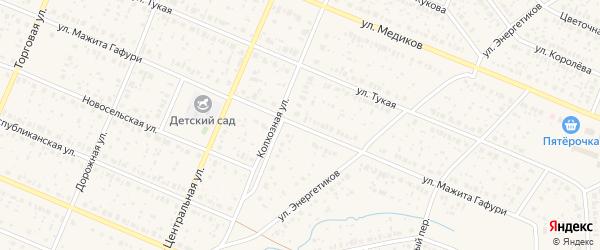 Улица Мажита Гафури на карте села Раевского с номерами домов