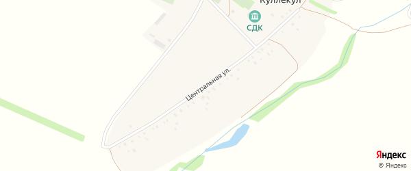 Центральная улица на карте деревни Куллекула с номерами домов
