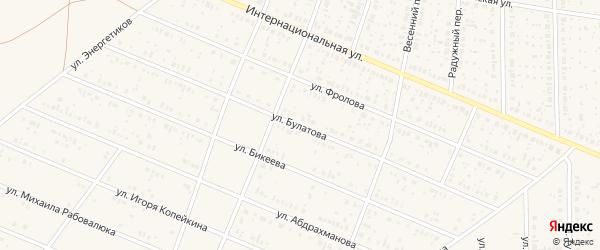 Улица Булатова на карте села Раевского с номерами домов