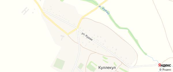 Курая улица на карте деревни Куллекула с номерами домов