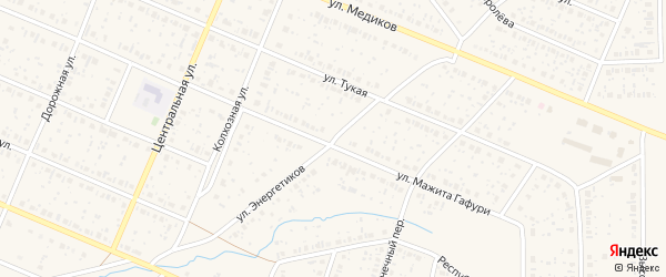 Улица Энергетиков на карте села Раевского с номерами домов