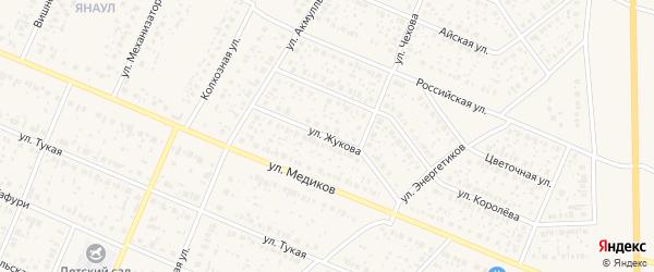 Улица Жукова на карте села Раевского с номерами домов