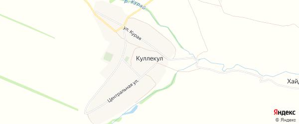Карта деревни Куллекула в Башкортостане с улицами и номерами домов
