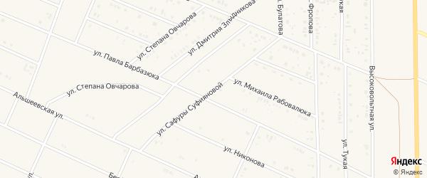 Улица С.Суфияновой на карте села Раевского с номерами домов
