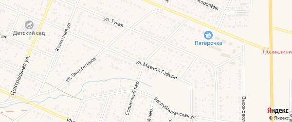 Солнечный переулок на карте села Раевского с номерами домов