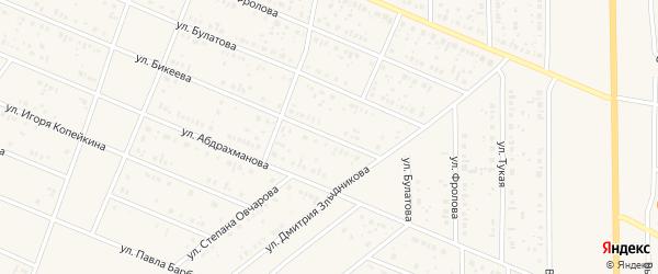 Улица Бикеева на карте села Раевского с номерами домов