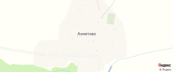 Луговая улица на карте деревни Ахметово с номерами домов