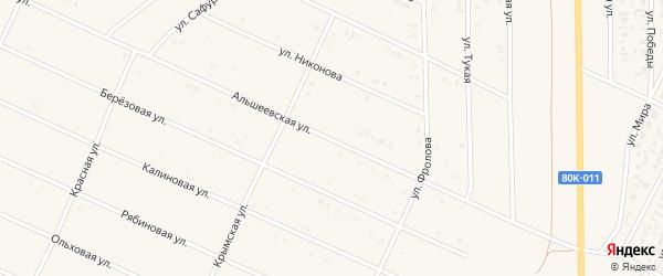 Альшеевская улица на карте села Раевского с номерами домов