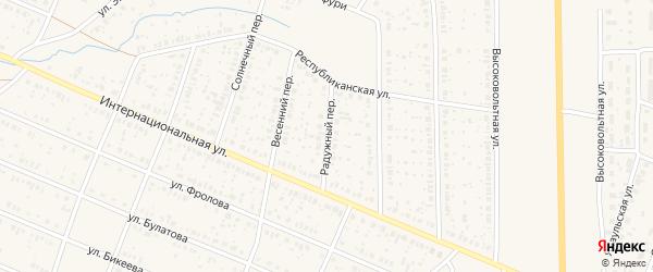 Радужный переулок на карте села Раевского с номерами домов