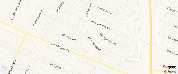 Улица Королева на карте села Раевского с номерами домов