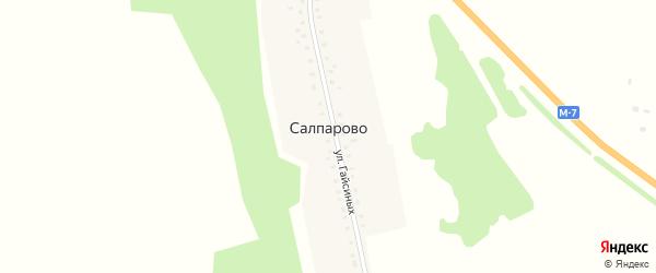 Улица Гайсиных на карте деревни Салпарово с номерами домов