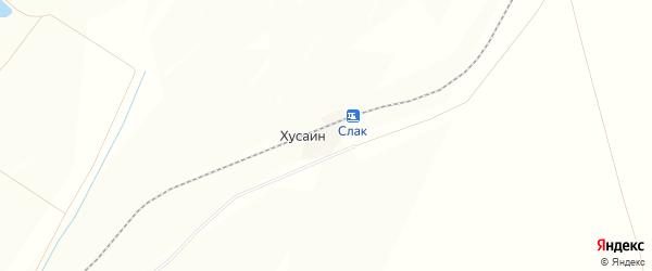 Карта деревни Хусаина в Башкортостане с улицами и номерами домов