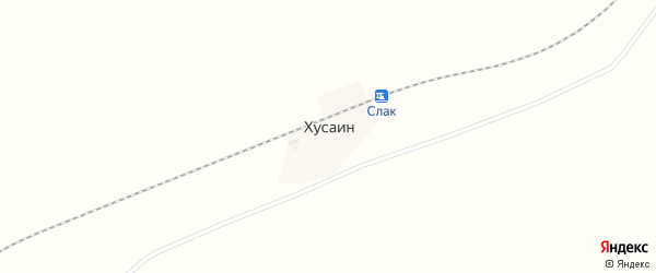 Центральная улица на карте деревни Хусаина с номерами домов